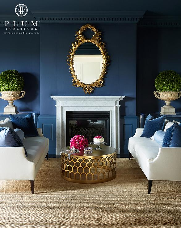 Navy + brass is a classic combo reborn.  via Decor Pad