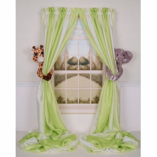 "Okay, so these aren't in the original room inspiration, but I had to share.  How adorable are these ""curtain critter"" animal curtain tie-backs?  They come in"