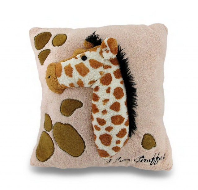 For baby's bed (or chair), how amazing is this super-soft plush giraffe pillow?  This looks like the sort of thing my kids would snuggle with and feel while settling down for a nap or bedtime.  Found it on Amazon.com.