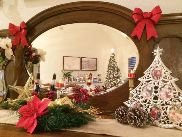 Dollar Tree Store items for entry way festive Christmas deco