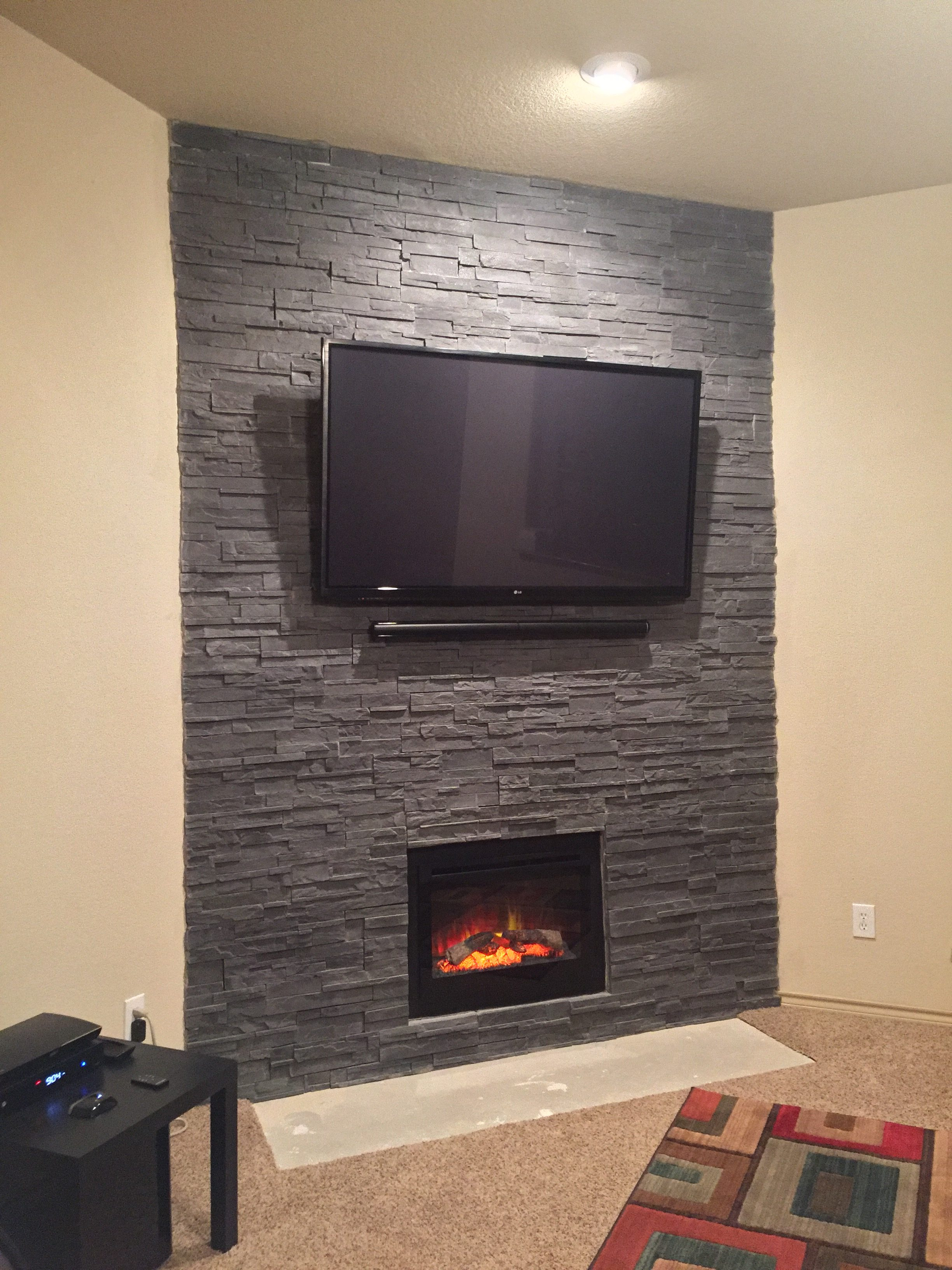 A Fireplace Transformed With Cultured Stone Photos