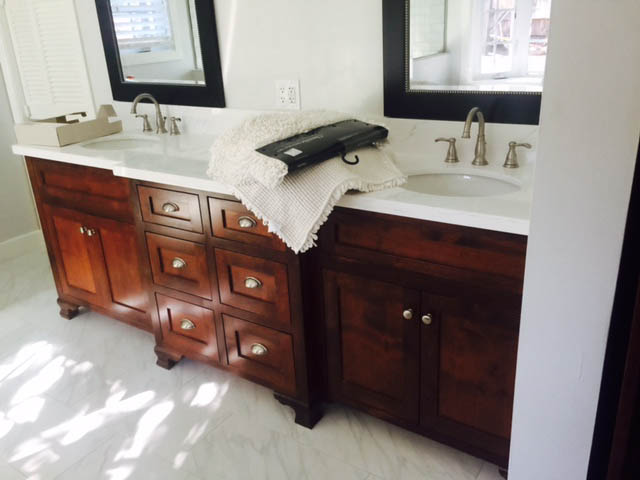Custom Bathroom Remodel Double Sink Vanity