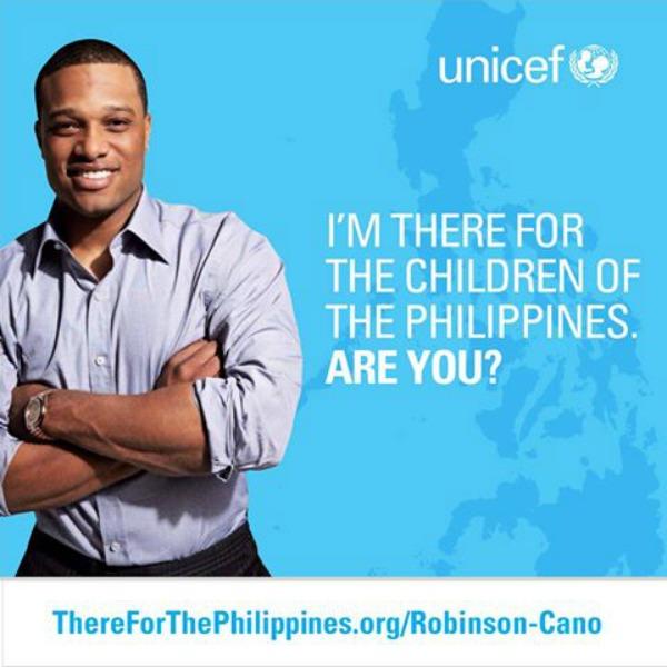 1480692 698359016841499 1171595530 n1 Robinson Canó trabajando junto UNICEF