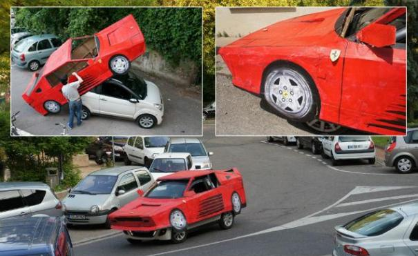 ferrari 390 Tipo en olla disfraza su carrito de Ferrari [FOTO]