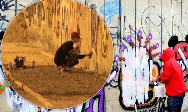 jb Investigan grafiti de Yostin Viveres