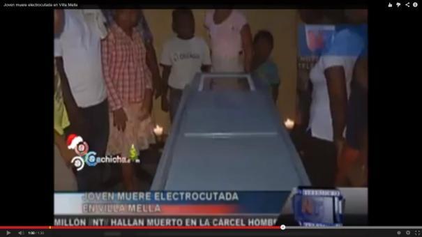 16 Video Joven mujer se electrocuta con la lavadora [RD]