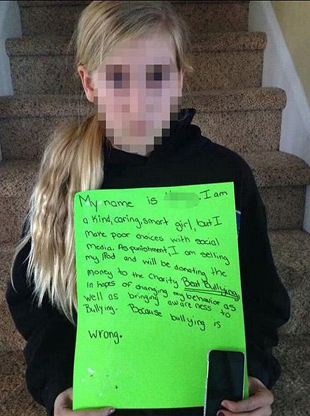 foto22 Mujer avergüenza a su hija en las redes sociales [Castigo]