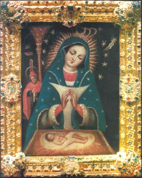 """""""Virgen de la Altagracia"""", imagen via Manuelgarciacartagena.wordpress.com"""