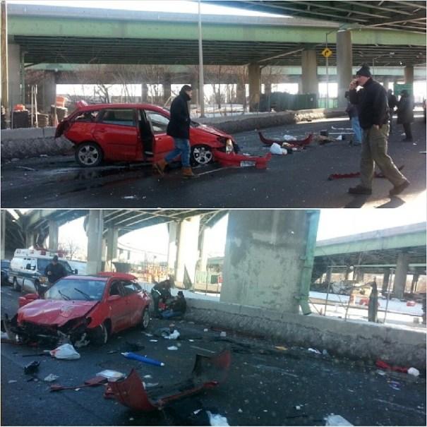 ku xlarge2 Pasajeros sobreviven tras vehículo caer de elevado a 50 pies