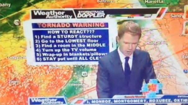 """c4e942c111df2236812c2887ea2d7c0b article Se armó """"corre corre"""" en canal de TV de EE.UU por tornado [En vivo]"""