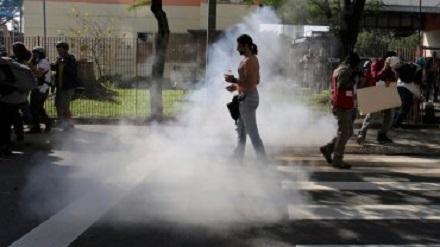 00111393501 Manifestantes activos en día inaugural del Mundial [Brasil]