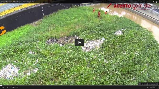 12 Drone capta cómo la tormenta Bertha dejó al río Ozama [Video]