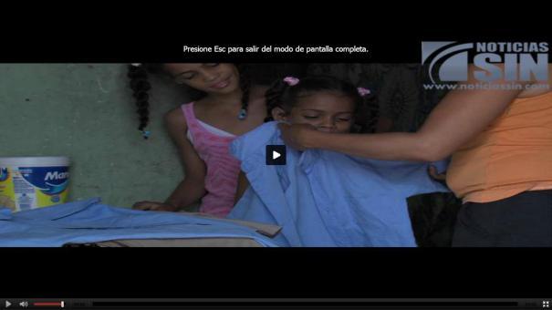 18 Video Muchos niños no irán a clases por falta de útiles escolares [RD]