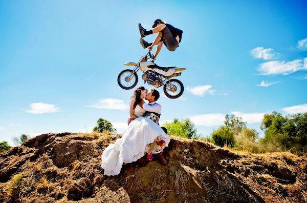 matrimonio Fotos raras de recién casados
