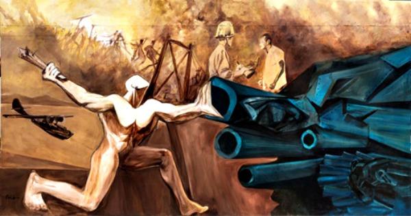 "El Mural ""Turbulencia Milenaria"" por Ramón Oviedo"