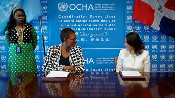 acuerdo República Dominicana firma con ONU acuerdo de cooperación en temas humanitarios