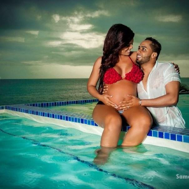 Ibelka Ulerio muestra su linda panza de embarazada 4