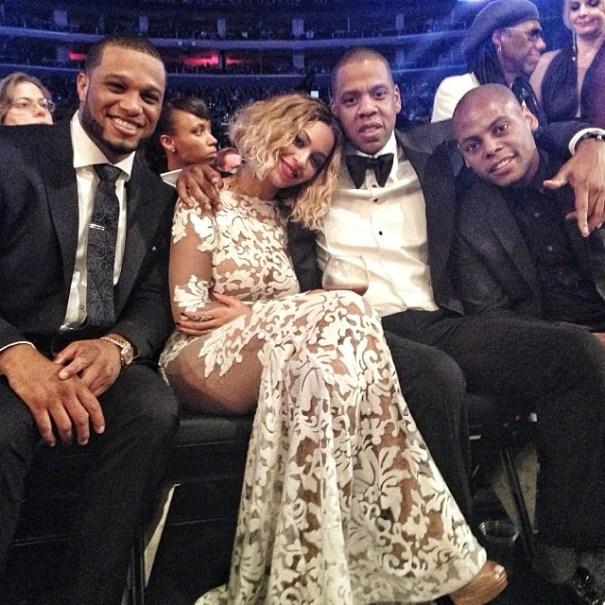 Robinson Cano con JayZ y Beyonce