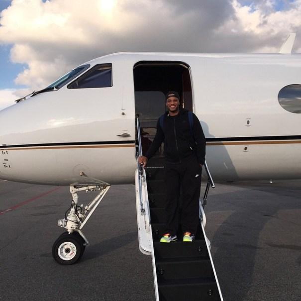 Robinson Cano en su jet
