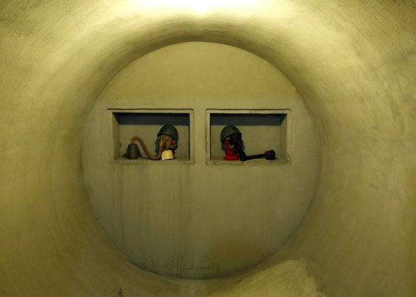 the bunker was transformed from a wine cellar corriere della sera wrote that mussolini complained that the bunker was not ready by the time his regime fell Fotos   Dentro del búnker secreto de un dictador
