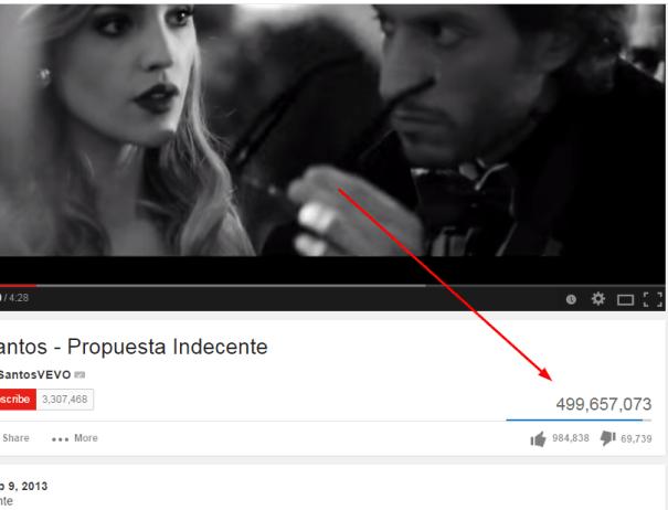 rs El video de Romeo con casi 500 millones de vistas en Youtube