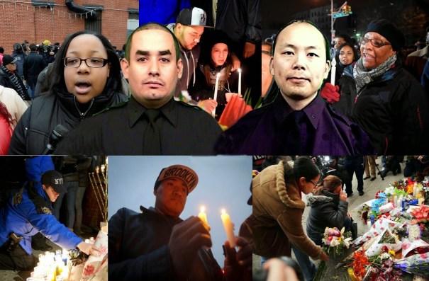 image216 Neoyorquinos rinden tributo y respeto a policías asesinados