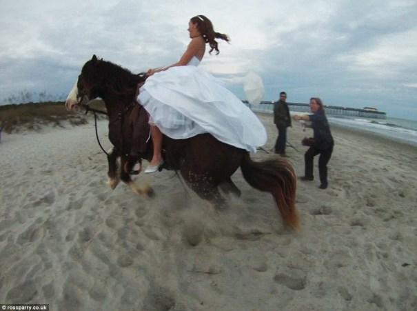 image71 Video   Caballo tumba la novia durante sesión de fotos