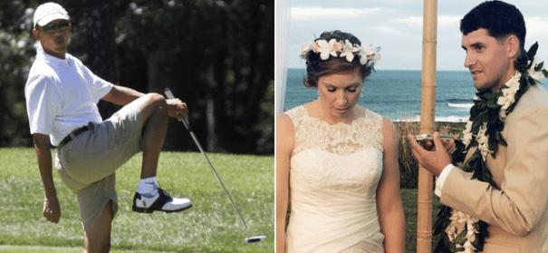 o Partido de golf de Obama jode los planes de boda de una pareja