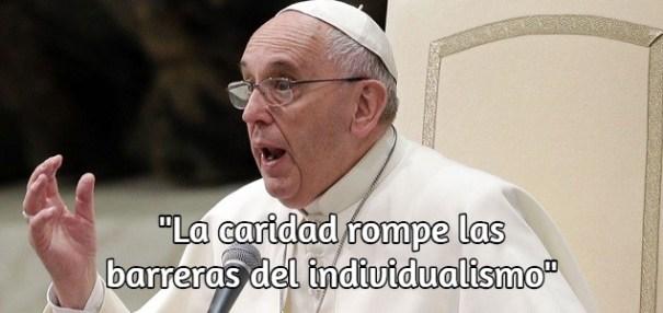 caridad El Papa sobre Haití