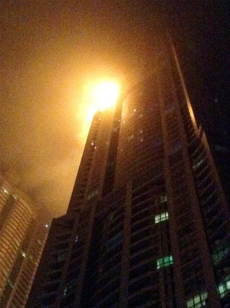 0012237199 Video: Incendio afecta mega rascacielos en Dubai