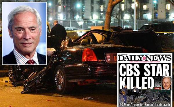 390 crash 0211 Bob Simon, corresponsal de 60 Minutes, muere en accidente