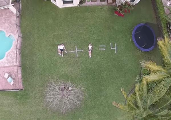 drone Dominicanos anuncian embarazo con un drone
