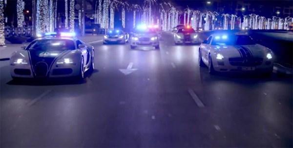 policia dubai Video   Dubai presume su flota policial de noche
