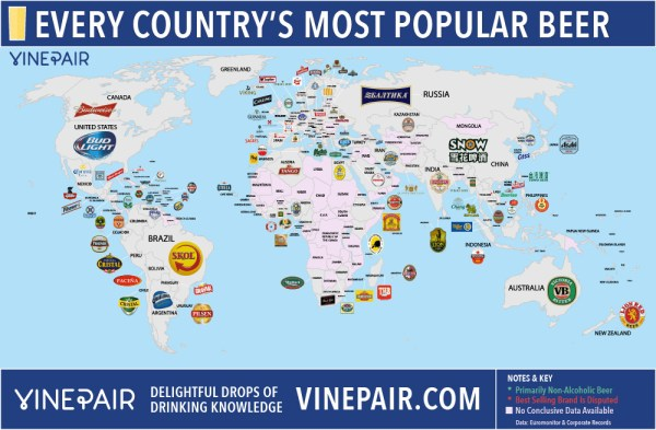 beer world map 1000 La cerveza más popular de cada país