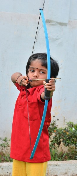 image370 Chamaquita de dos años bate récord en arco y flecha