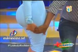 image193 Video   Presentadora explica porqué tiene el trasero grande