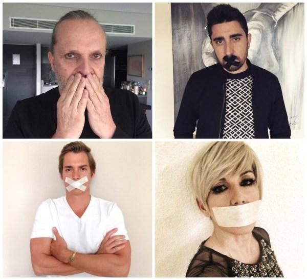 collageaaaa Famosos se unen a un #DiaSinMúsica en España