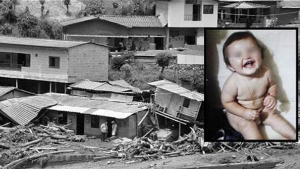 image490 Un bebé de 11 meses sobrevive a la avalancha de Colombia