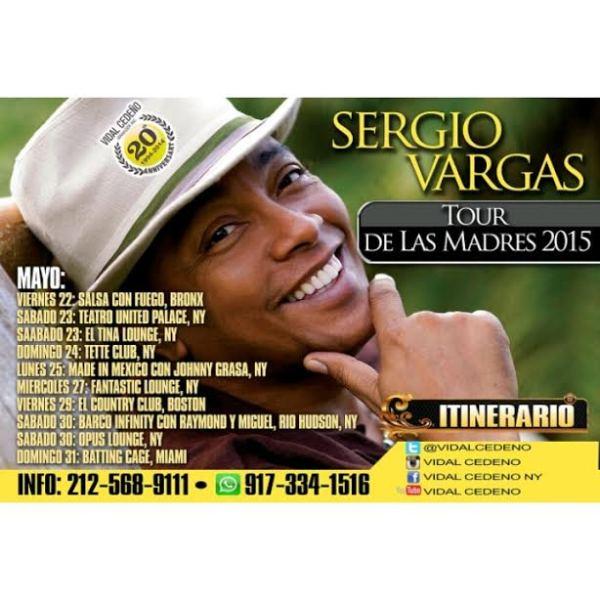 sgira Sergio Vargas y Raymond y Miguel se van de gira por EEUU