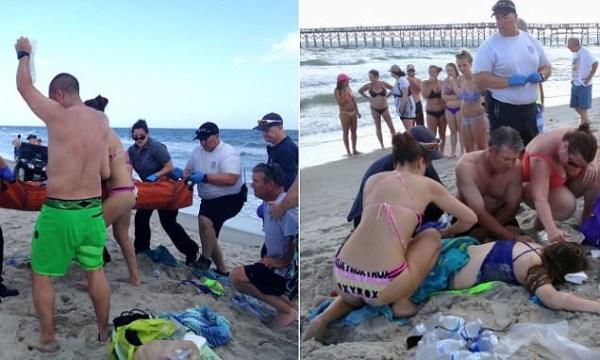 image260 Estables los jóvenes atacados por un tiburón en Carolina del Norte