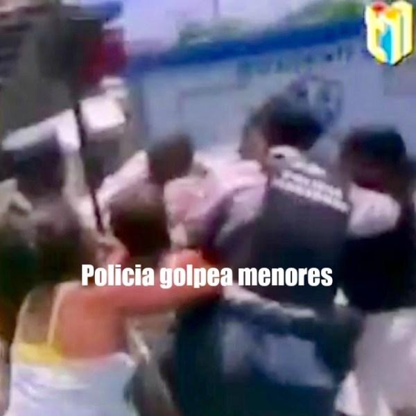 policia Video   Policias agrediendo a menores (RD)