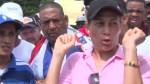 personas sordas Personas sordas piquetean Palacio Nacional [VIDEO]