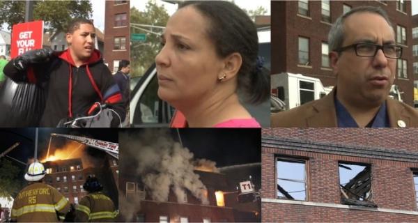 criollos evacuados Criollos evacuados edificio en New Jersey
