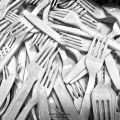 tenedores La vaina jodona de los plásticos desechables usados
