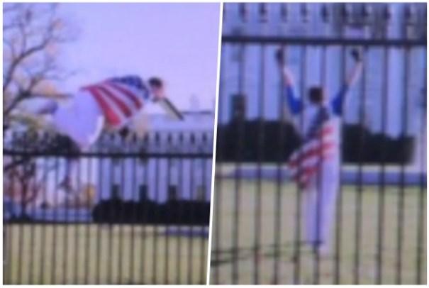 agarran tipo salto verja de la casa blanca Agarran tipo saltó verja de la Casa Blanca