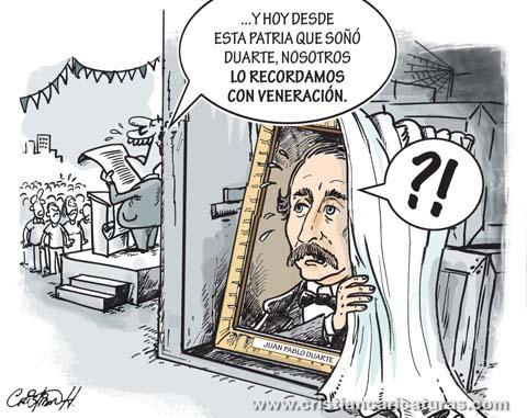 """duarte olvidado Caricatura – """"Duarte olvidado..."""""""