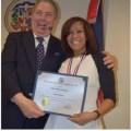 ip Periodista dominicana recibe la Medalla al Mérito Ciudadano