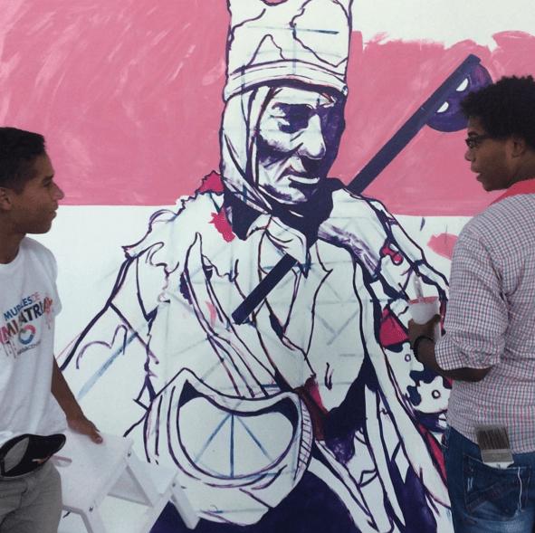 piexa Muralistas criollos rinden honor a la Patria