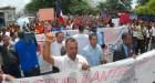 Protesta en la Universidad Autónoma de Santo Domingo (UASD)