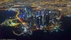 qatar mega ciudades Mega ciudades iluminadas vistas desde el aire